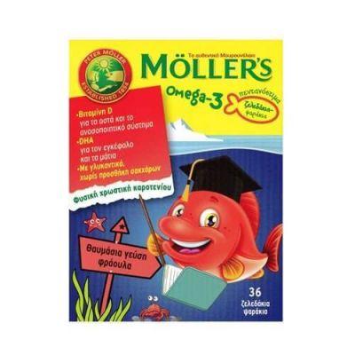 Moller's Omega 3 για Παιδιά 36 ζελεδάκια Φράουλα