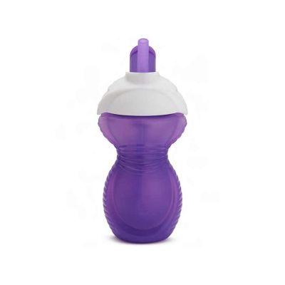 Munchkin Κύπελλο Click Lock Flip Straw Cup Μωβ 296ml