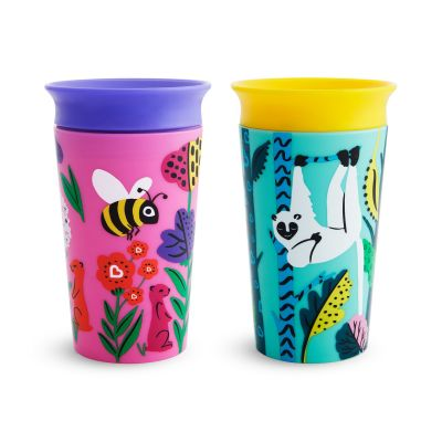 Munchkin Miracle 360° Wildlove Sippy Cup Lemur/Bee 266ml