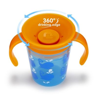 Munchkin Εκπαιδευτικό Κύπελλο Miracle 360° Deco Whales 6+ 177ml