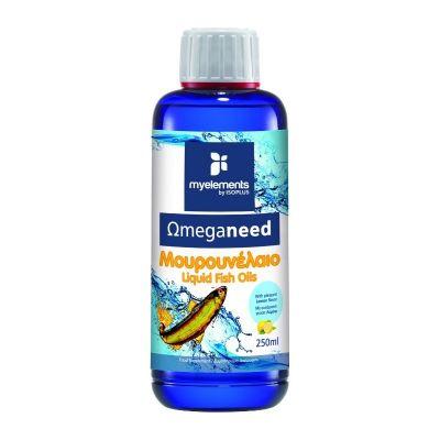 My Elements Ωmeganeed Μουρουνέλαιο με γεύση Λεμόνι 250ml