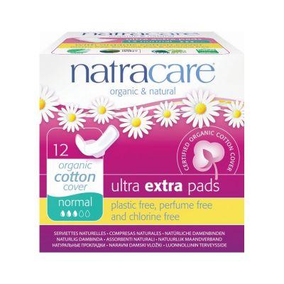 Natracare Σερβιέτες Ultra με φτερά για κανονική ροή 12τμχ