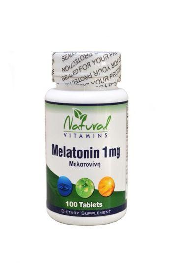 Natural Vitamins Μελατονίνη 1mg-Φυσική Βοήθεια για τον Ύπνο 100 Ταμπλέτες