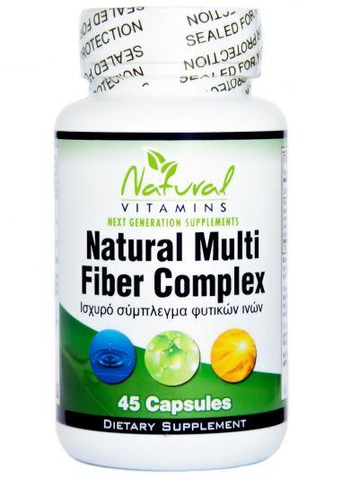 Natural Vitamins Natural Multi Fiber Complex - Ισχυρό Σύμπλεγμα Φυτικών Ινών 45 Κάψουλες