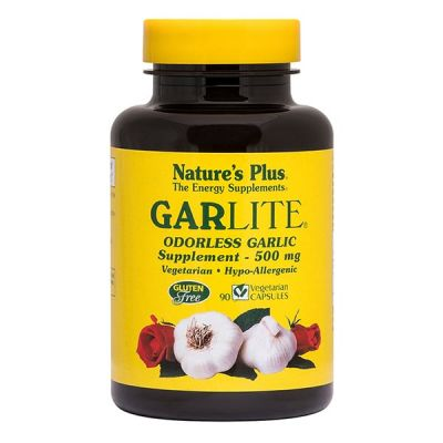 Natures Plus Garlite, 90 Φυτικές Κάψουλες