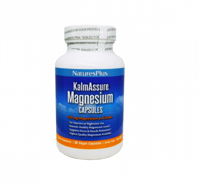 Natures Plus KalmAssure Magnesium - Μαγνήσιο Κιτρικό 420mg, 90 Φυτικές Κάψουλες