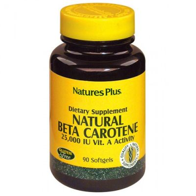 Natures Plus Natural Beta Carotene 90 Μαλακές Κάψουλες