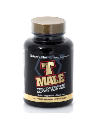 Natures Plus T Male Συμπλήρωμα Διατροφής για την Αύξηση της Ενδογενούς Τεστοστερόνης 60 Φυτικές Κάψουλες
