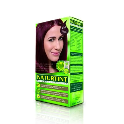 Naturtint Φυτική βαφή μαλλιών - 5M Καστανό ανοιχτό μαόνι 1 Τεμ