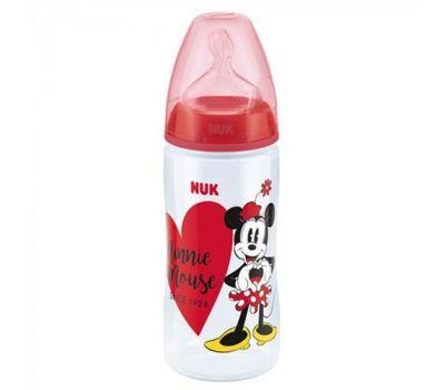 Nuk First Choice+ Μπιμπερό Πολυπροπυλενίου (PP) Disney Mickey Κόκκινο, Θηλή Σιλικόνης 300ml (10.741.828)