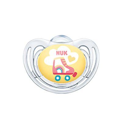 Nuk Freestyle Πιπίλα Σιλικόνης Κίτρινο Πατίνι 0-6m 1τμχ