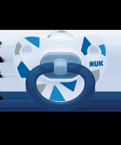 Nuk Happy Days Ορθοδοντική Πιπίλα Σιλικόνης 6-18M Μπλε, 1τμχ