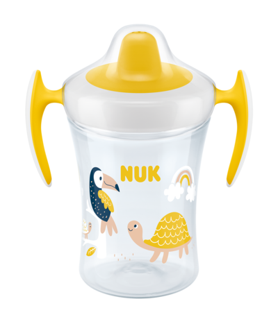 Nuk Trainer Cup με Μαλακό Ρύγχος και Χεράκια Κίτρινο 6+ 230ml