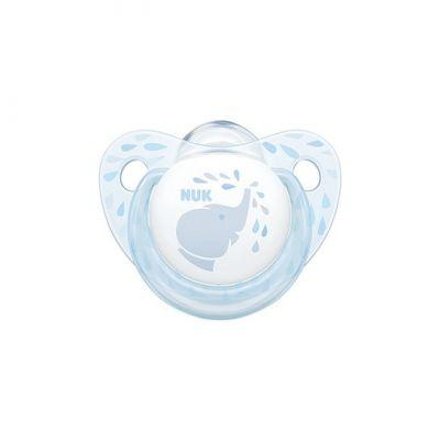 Nuk Baby Rose & Blue Ελεφαντάκι Σιλικόνης Μπλε 6-18m, 1τμχ