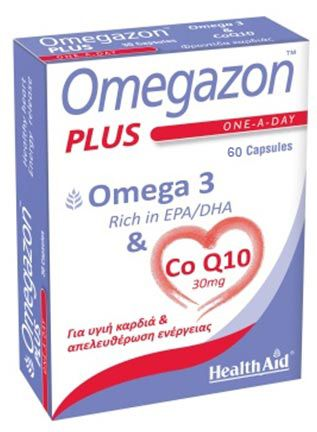 Health Aid Omegazon PLUS (Ω3 & CoQ10) 60caps