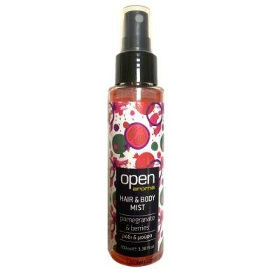 Open Cosmetics Hair & Body Mist Ρόδι & Μούρα 100ml