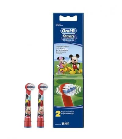 Oral-B Stages Power Mickey Mouse Ανταλλακτικά για Ηλεκτρική Παιδική Οδοντόβουρτσα 2τμχ