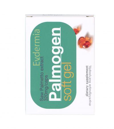 Evdermia Palmogen Soft Gel  Συμπλήρωμα διατροφής για την αντιμετώπιση της τριχόπτωσης 320 mg /caps 30 soft gels