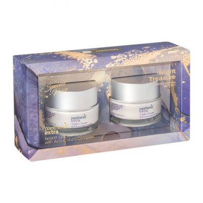 Panthenol Extra Promo Night Cream Αντιγηραντική Ενυδατική Κρέμα Προσώπου Νύχτας, 2x50ml