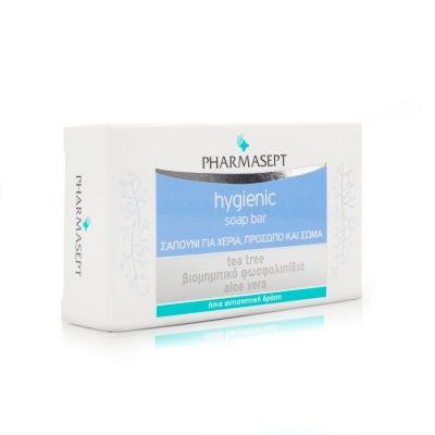 Pharmasept Hygienic Soap Bar Σαπούνι Με Ήπια Αντισηπτική Δράση για Χέρια, Πρόσωπο & Σώμα 100gr