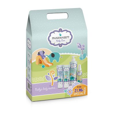 Pharmasept Promo Pack with Baby Care Mild Bath, 500ml & Baby Extra Calm Cream, 150ml & Baby Natural Oil, 100ml & Baby Soothing Cream, 150ml