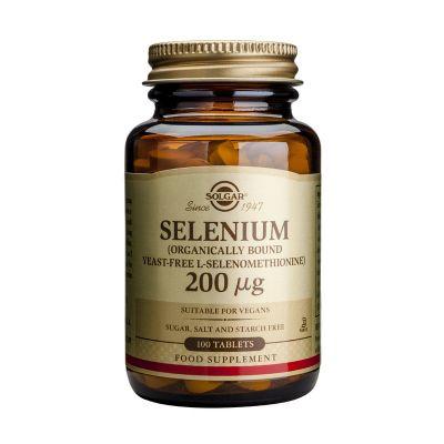 Solgar Selenium 200μg 100 Ταμπλέτες
