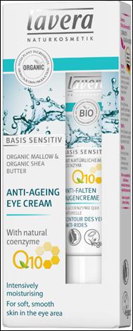 Lavera  Basis Sensitiv Q10 Κρέμα Ματιών Basis (Με Αντιγηραντική Δράση) 15ml