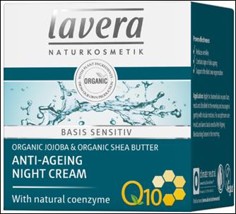 Lavera Basis Sensitiv Q10 Κρέμα Νυκτός ( Με Αντιγηραντική Δράση) 50ml