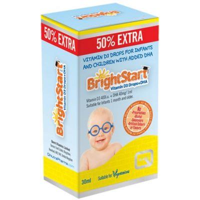 Quest Bright Start Vitamin D3 Drops & DHA, Συμπλήρωμα Διατροφής για Βρέφη και Παιδιά 20ml