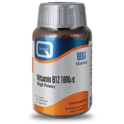 Quest Βιταμίνη B12 1000mg 60 Ταμπλέτες
