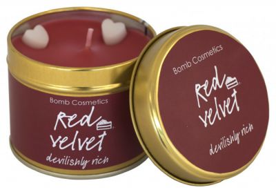 Bomb Cosmetics Red Velvet Tinned Handmade Candle 1τμχ 243g