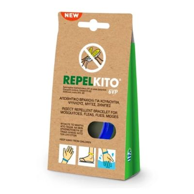 RepelKito Εντομοαπωθητικό Βραχιόλι 6VP Μπλε 1τμχ