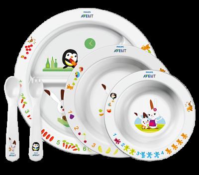 Avent SCF716/00 Σετ Φαγητού Για Νήπια 6 Μηνών+ Χωρίς BPA Συσκευασία Με 5 Τεμάχια