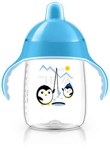 AVENT Κύπελλο με στόμιο και λαβές μπλε 340ml, 18 μηνών+  SCF755/05 1 τεμ.