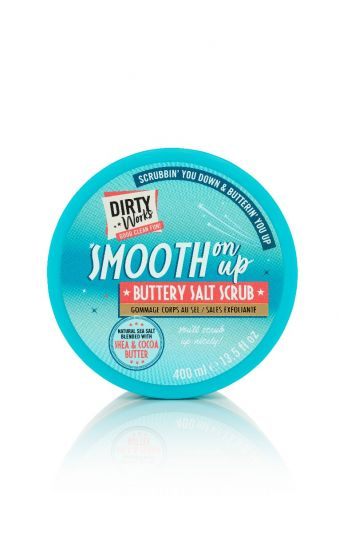 Dirty Works Smooth on up Buttery Salt Scrub 400ml