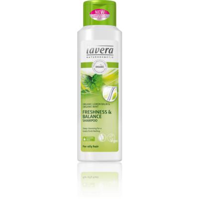 Lavera Hair PRO Σαμπουάν Φρεσκάδας & Εξισορρόπησης Lavera Για Λιπαρά Μαλλιά Με Βιολογικό Βάλσαμο Λεμονιού & Βιολογική Μέντα 250ml
