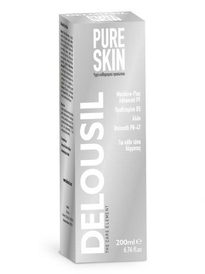 SJA Pharm Delousil Pure Skin Face Cleansing Liquid Υγρό Καθαρισμού Προσώπου 200ml