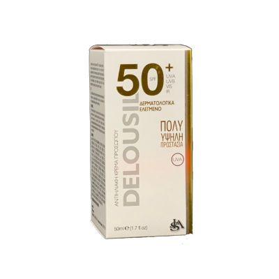 SJA Pharm Delousil Silky Skin Formula SPF 50+ Αντιηλιακή Κρέμα Προσώπου 50ml