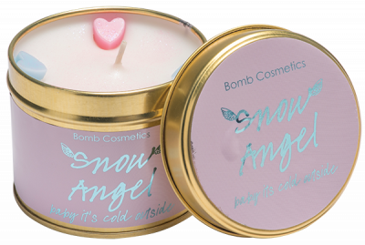 Bomb Cosmetics Snow Angel Tinned Handmade Candle 1τμχ 243g