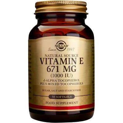 Solgar Vitamin E 671mg (1000IU) 50 Μαλακές Κάψουλες