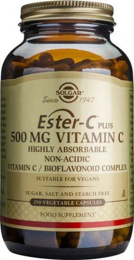Solgar Bιταμίνη Ester-C 500mg 250 Φυτικές Κάψουλες