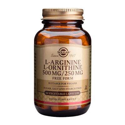 Solgar L-Arginine L-Ornithine 500mg/250mg 50 Κάψουλες