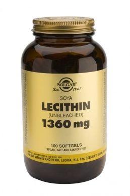 Solgar Lecithin 1360mg 100 Μαλακές Κάψουλες