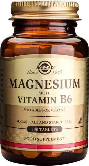 Solgar Magnesium + B6 100 Ταμπλέτες