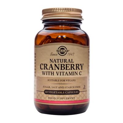 Solgar Natural Cranberry με Vitamin C 60 Φυτικές Κάψουλες