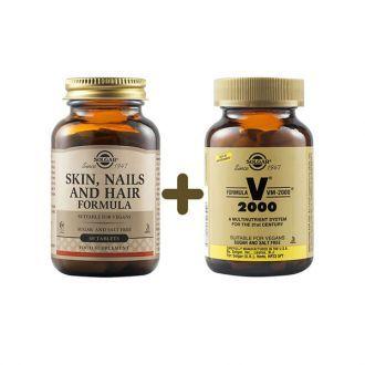 Solgar Skin Nails And Hair Formula 60tabs & Solgar Formula VM 2000 14tabs