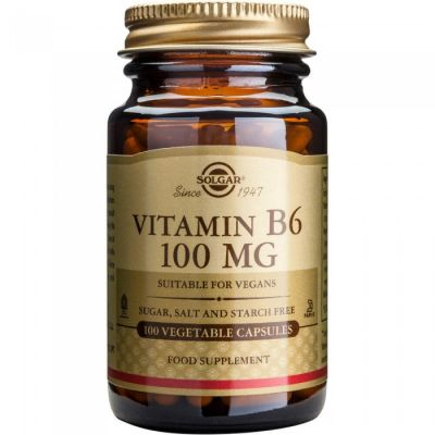 Solgar Vitamin B6 100MG 100 Κάψουλες