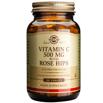 Solgar Vitamin C 500mg with Rose Hips 100 Ταμπλέτες