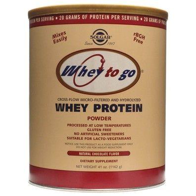 Solgar Whey To Go Protein Πρωτεΐνη Υψηλής Βιολογικής Αξίας Σοκολάτα 454g