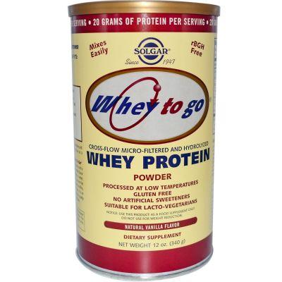Solgar whey to go protein Vanillia powder 340gr
